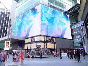 Outdoor Waterproof Transparent LED Screens 5500 Nits For Glass Wall Window