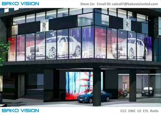 Glass Advertising Led Display Wide Angle Screen High Brightness 1000X500mm Cabinet P5 Video Wall