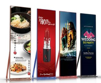 Moveable LED Poster Display P2.5 HD 1000 Nits For Mall Stores Advertising